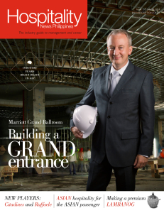 Hospitality News Philippines July 10, 2014 issue covered the development behind Marriott Grand Ballroom