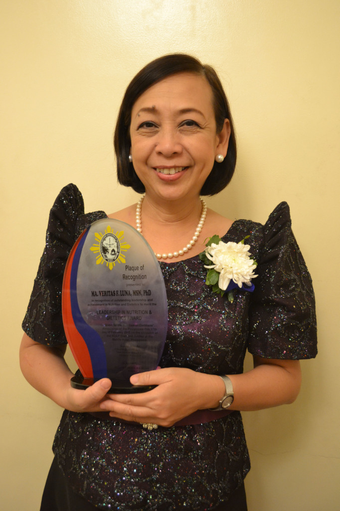 Dr. Veritas Luna, one of the 10 Outstanding Nutritionists-Dieticians of the Philippines by Nutritionist-Dietitians' Association of the Philippines. Photo courtesy of The Cravings Group