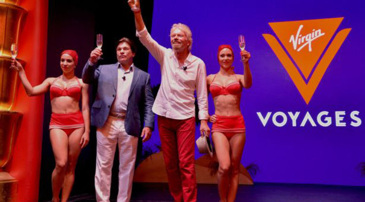 Sir Richard Branson launches his own new Virgin Voyages cruise brand